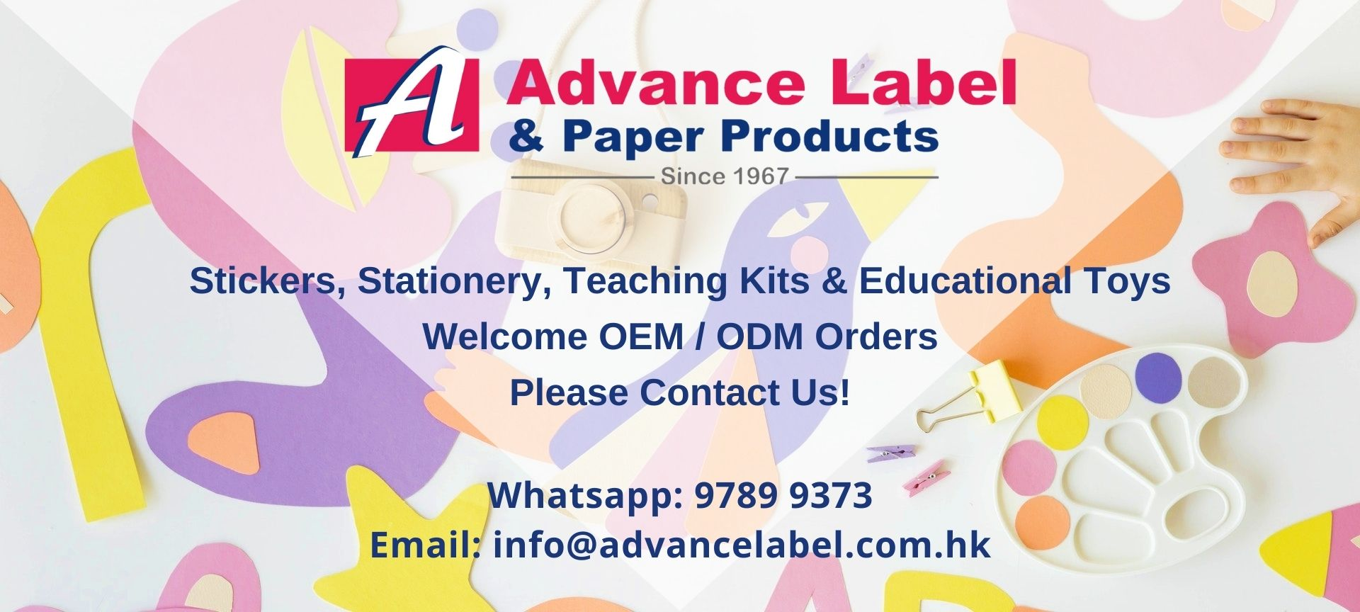 OEM & ODM Stickers, Stationery, Teaching Kits & Educational Toys